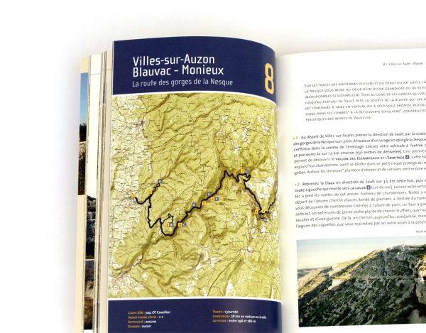 Pages intérieures du livre 25 balades sur les chemins de la pierre sèche