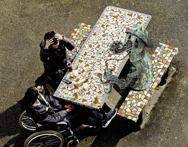 Photo-dessin extraite du livre Les Inconfiants