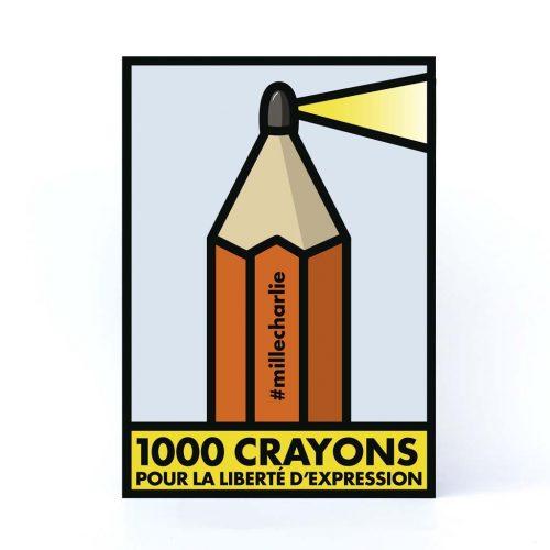 Couverture du livre 1000 crayons pour la liberté d'expression