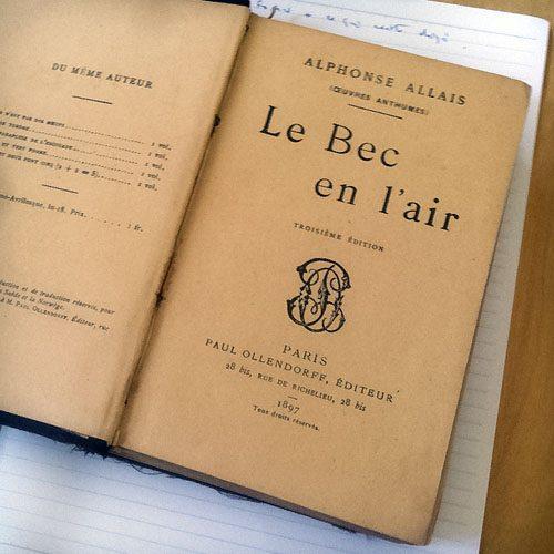 Le Bec en l'air, d'Alphonse Allais